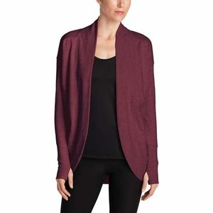 Eddie Bauer Ladies' Fleece Wrap Cardigan - Red